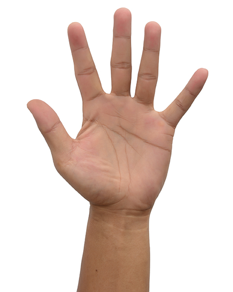 Picture of Hand with Five Fingers Sticking Up
